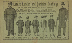 Advert For Gamlen Brothers, Juvenile Outfitters
